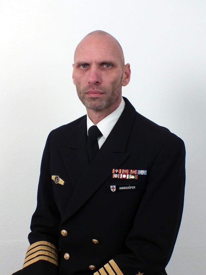 Flottillenadmiral Kay-Achim Schönbach wird neuer Kommandeur der Marineschule Mürwik