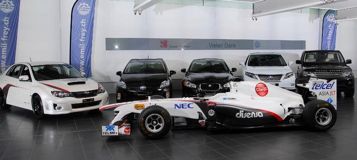 Sauber F1 Team ab sofort mit Autos der Emil Frey Gruppe unterwegs