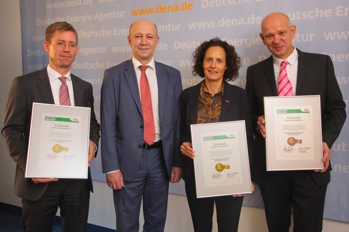dena vergibt Best-Practice-Label für Energieeffizienz / Aurubis, arvato Systems und KNIPEX erhalten Auszeichnung für besondere Energieeffizienzprojekte
