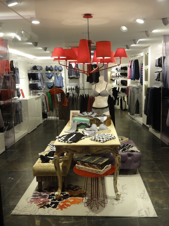 Lingerie suisse de rêve dans la nouvelle boutique CALIDA de Paris
