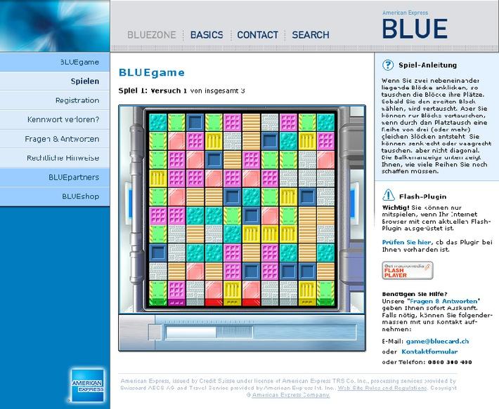 La carte de crédit voit l'avenir en BLUE