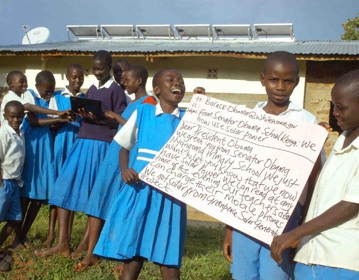 Greenpeace: Kenya's Obama Schools e-mail President Obama on Climate Change