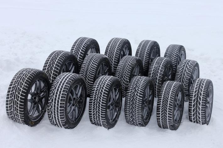 40 Jahre TCS-Winterreifentest: 2013 mit ausgewogenen Leistungen auf hohem Niveau