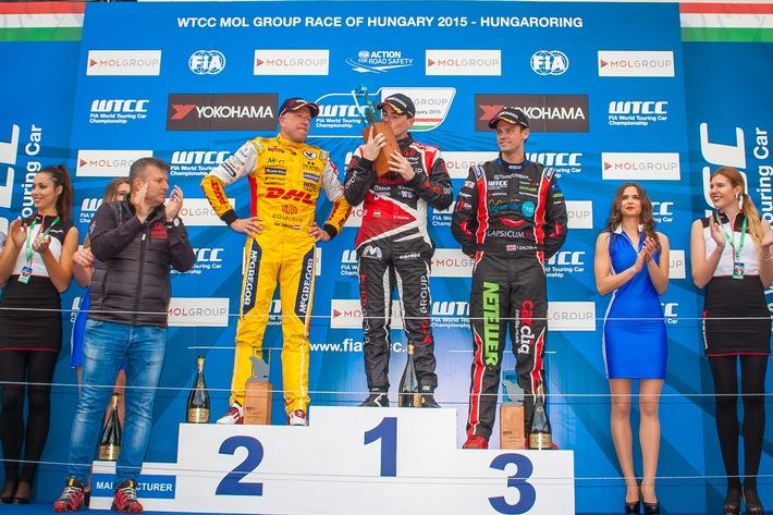 WTCC Rennen in Ungarn 2015: Norbert Michelisz holt sich den Heimsieg