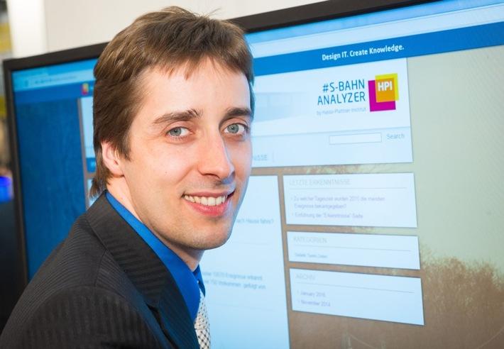CeBIT: S-Bahn-Fahrt wird smart - durch schnelle Twitter-Auswertung / Hasso-Plattner-Institut stellt S-Bahn-Analyzer vor