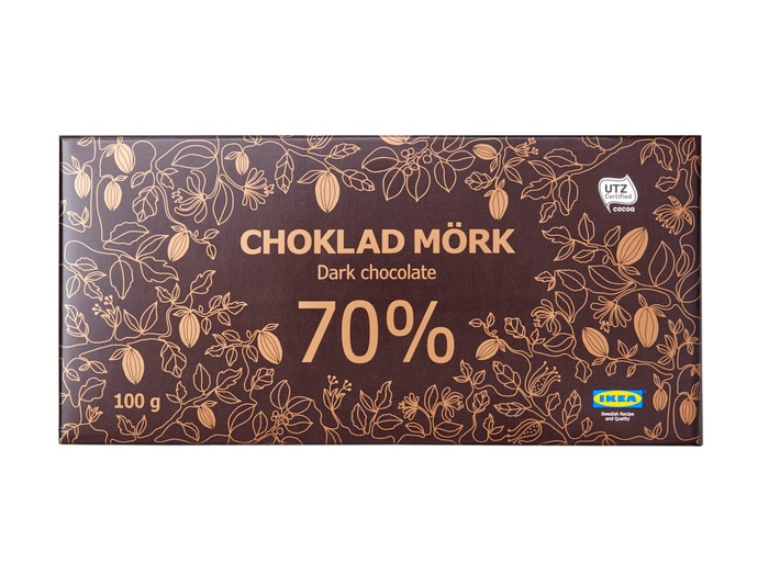 IKEA ruft CHOKLAD MÖRK 60% und CHOKLAD MÖRK 70% dunkle Schokolade wegen unzureichend deklariertem Milch- und Haselnussgehalt zurück
