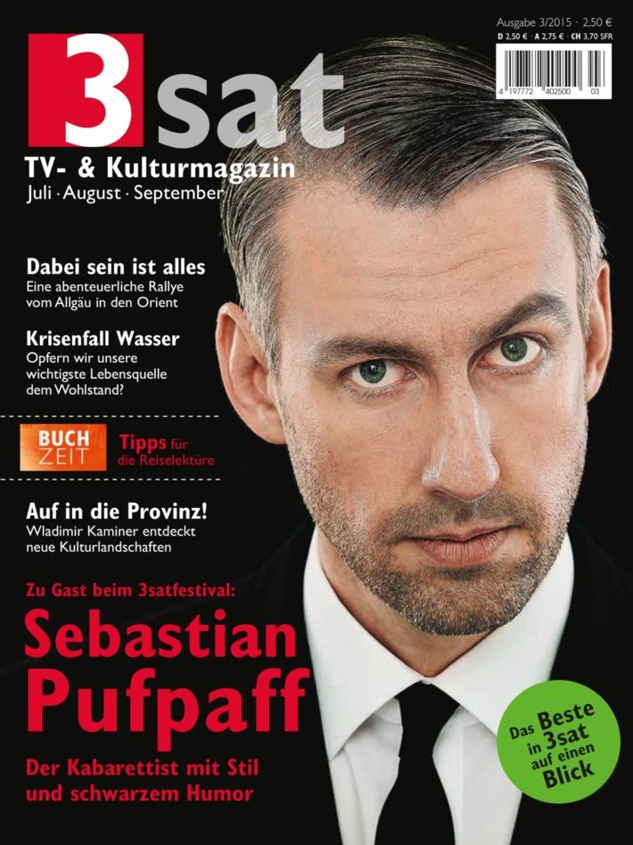"""Sebastian Pufpaff: """"Mein Name ist Programm"""" / Der Kabarettist im Interview im neuen """"3sat TV- & Kulturmagazin"""" / Die Ausgabe 3/2015 erscheint am 19. Juni"""
