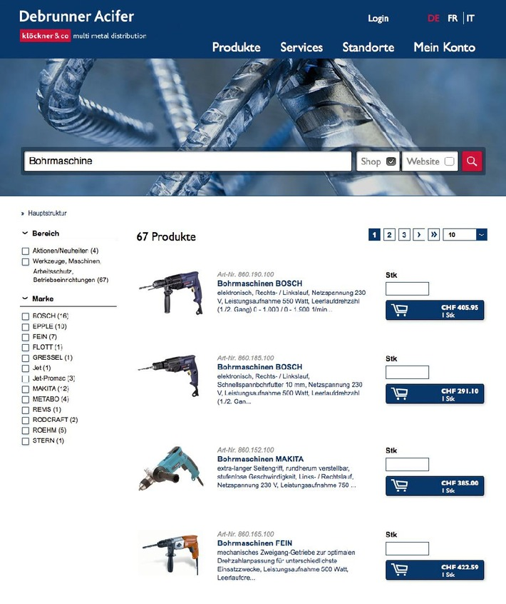 Debrunner Acifer au Top 5 du Swiss E-Commerce-Award