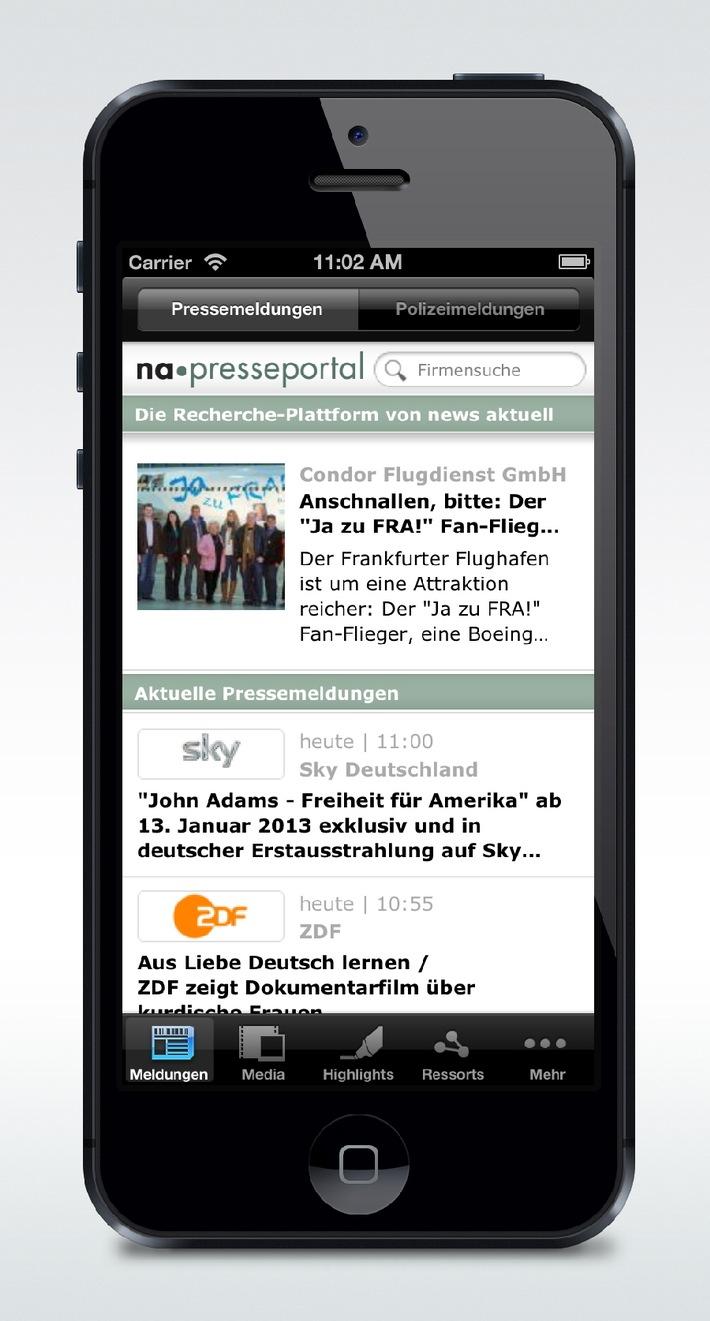 Neue Presseportal-App für iPhone 5 optimiert / Version 2.3 jetzt im App Store verfügbar