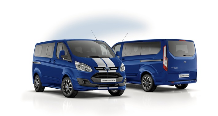 dynamische allrounder ford transit custom black edition. Black Bedroom Furniture Sets. Home Design Ideas