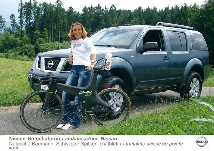Natascha Badmann - nouvelle Ambassadrice Nissan - La meilleure triathlète du monde roule en Nissan Pathfinder