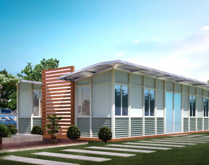 """Aus EINS mach DREI - RENHE House Europe revolutioniert Containerbau mit """"Ausklapp""""-Patent"""