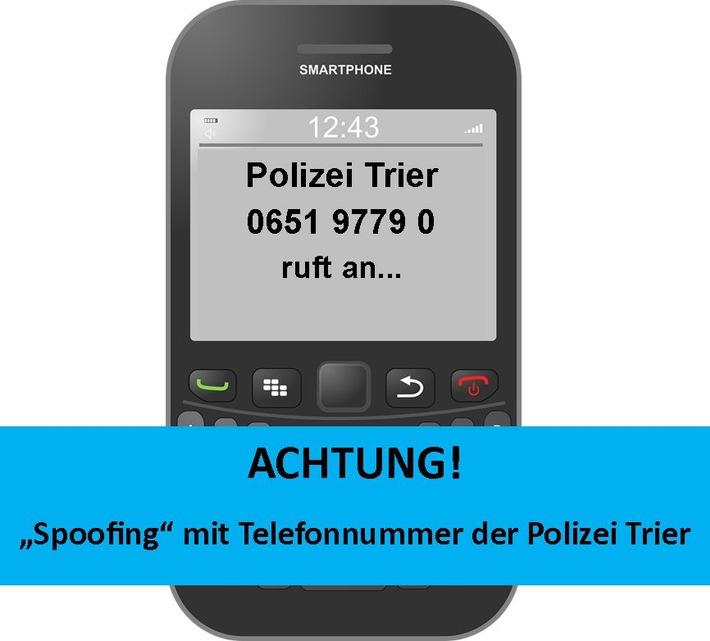 POL-PPTR: Achtung! Betrüger geben sich am Telefon als Polizei aus