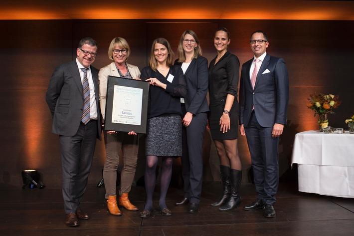 Sanitas si aggiudica l'ambito premio speciale per l'innovazione per il suo costante impegno a favore della digitalizzazione