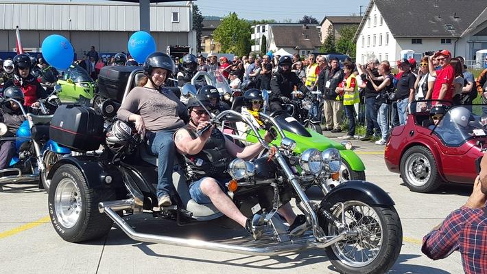 Unterstützung für Muskelkranke: Love Ride 25 in Dübendorf am 7. Mai 2017