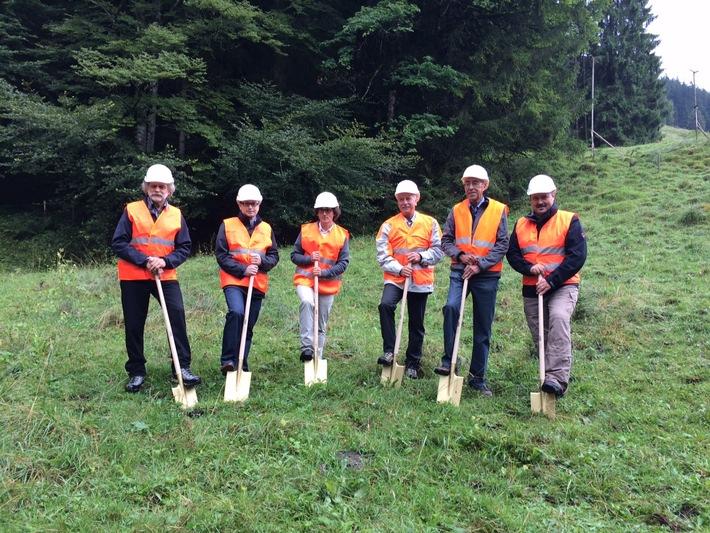Baubeginn für das Wasserkraftwerk Spiggebach im Kiental