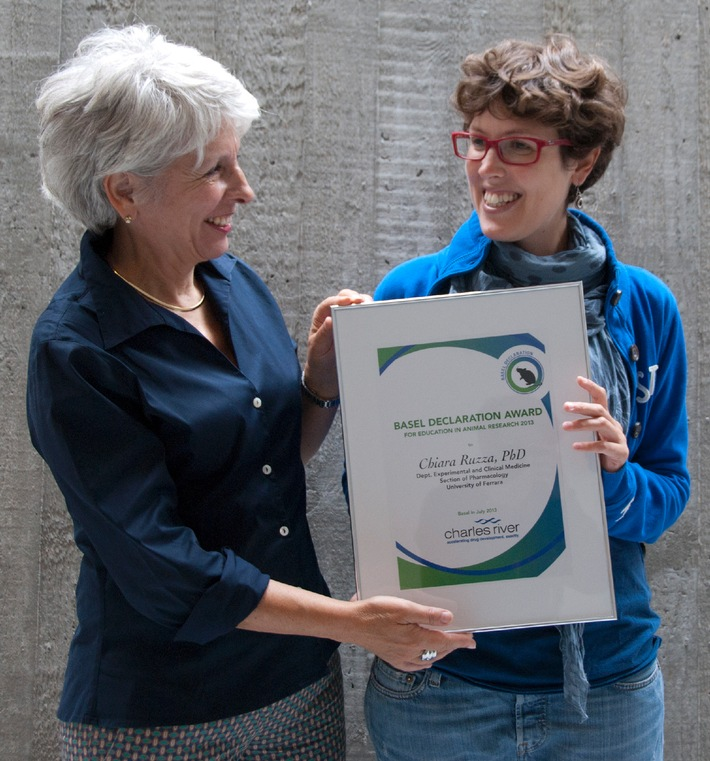 """A young researcher from Italy wins this year's """"Basel Declaration Award for Education in Animal Research"""" (Picture)"""