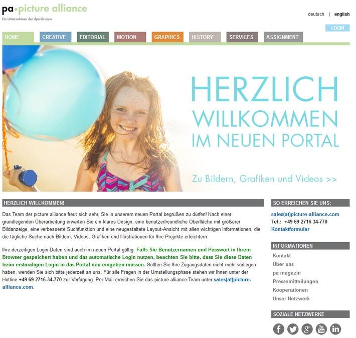 Neues Medienportal der picture alliance online