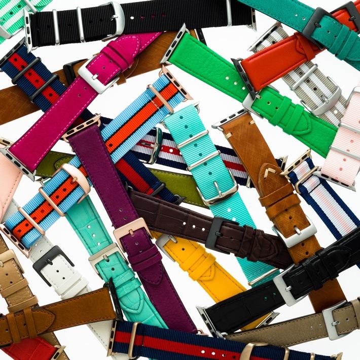 Neu für die Apple Watch: Premium-Armbänder von Roobaya