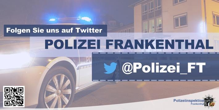 POL-PDLU: Frankenthal: Seitenscheibe an Pkw eingeschlagen