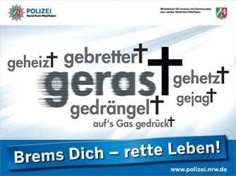 POL-DN: Brems Dich - rette Leben!