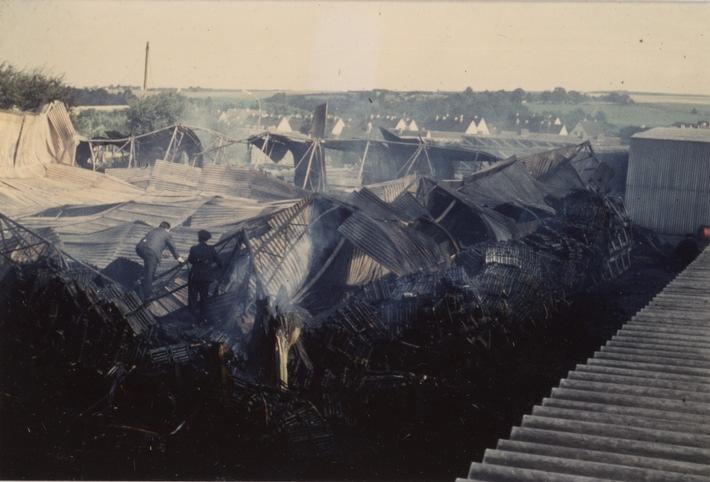FW-Heiligenhaus: Heute vor 50 Jahren: Brandstiftung im Bundeswehr-Depot (Meldung 20/2016)