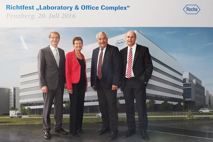 Roche Penzberg feiert Richtfest für Bayerns größtes biotechnologisches Ausbildungszentrum