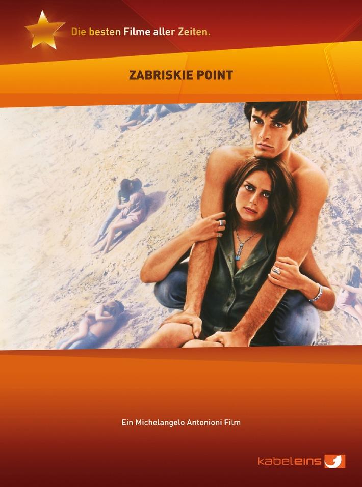 """Zum ersten Mal in Deutschland auf DVD: """"Zabriskie Point"""" - im Rahmen der kabel eins DVD-Reihe """"Die besten Filme aller Zeiten."""" ab 17. April 2008"""