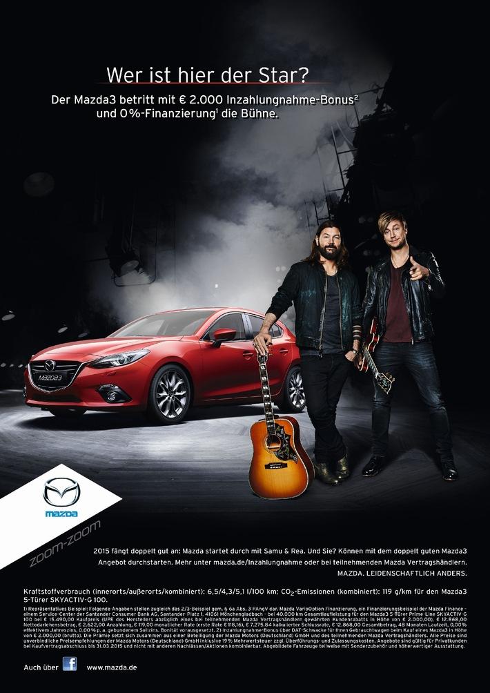 Mazda Startet Mit Rea Garvey Und Samu Haber In Das Jahr 2015