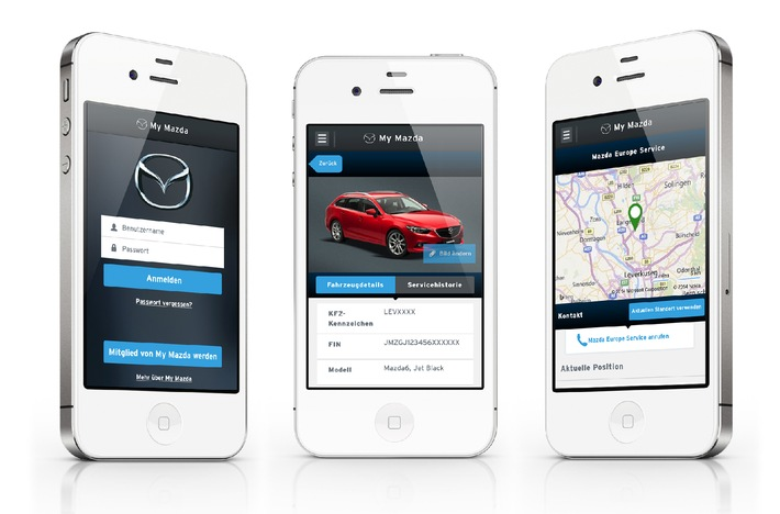 My Mazda App in neuem Design