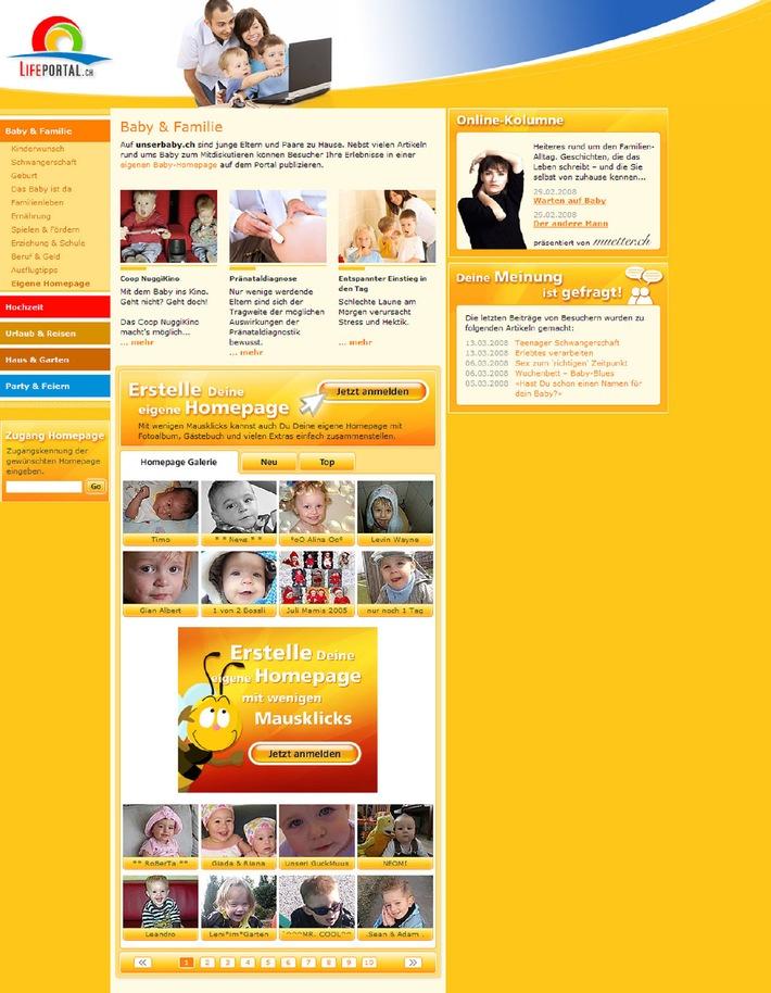 LifePortal.ch: Das Familienleben als Online-Ereignis