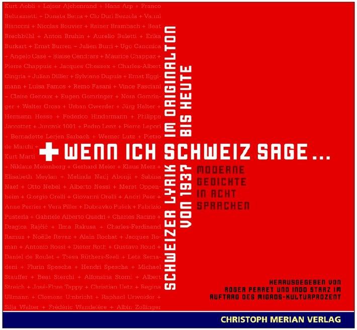 Schweizer Lyrik im Originalton / Migros-Kulturprozent und Christoph Merian Verlag publizieren Lyrik-Hörbuch