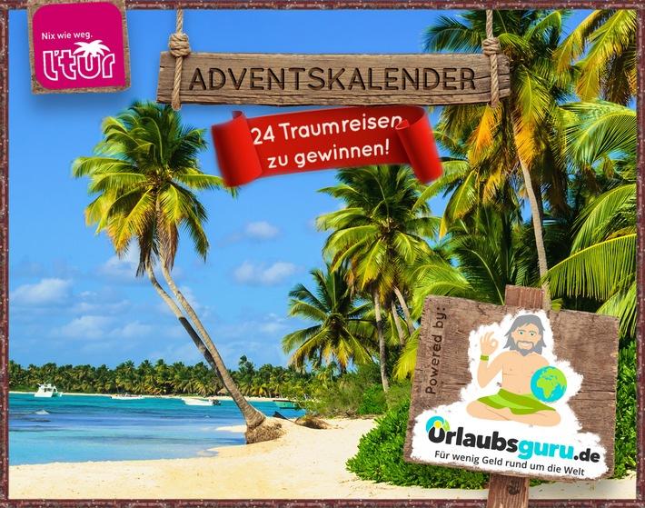 24 Traumreisen zu gewinnen: Urlaubsguru.de startet Deutschlands attraktivsten Adventskalender / Party in Las Vegas, Familienurlaub auf Mallorca und mehr: Traumreisen bei Urlaubsguru.de gewinnen