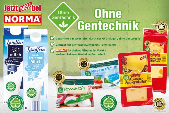 """Nürnberger Discounter baut Sortiment mit Label """"Ohne Gentechnik"""" aus / NORMA: Gentechnikfreier Emmentaler und Mozzarella konkurrenzlos"""