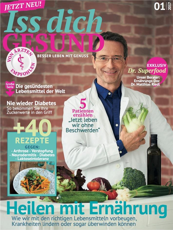 JAHRESZEITEN VERLAG launcht am 6. September 2017 das neue, innovative Magazin ISS DICH GESUND
