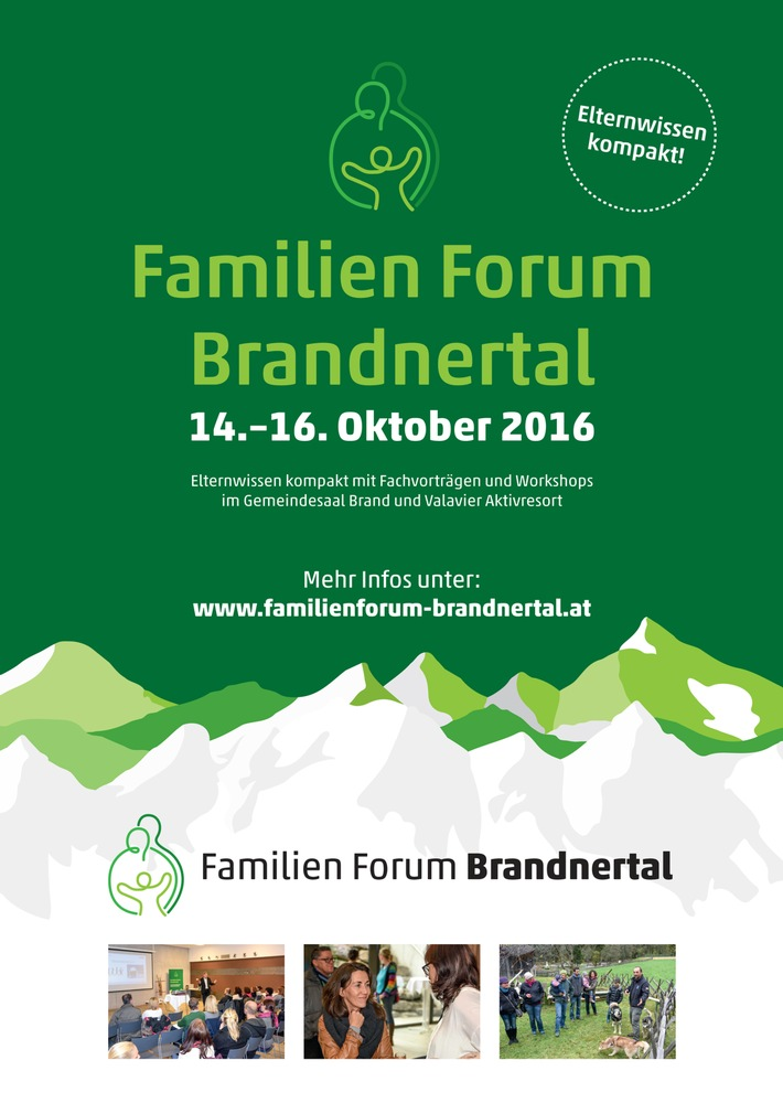 Familien Forum Brandnertal: 14.-16. Oktober 2016