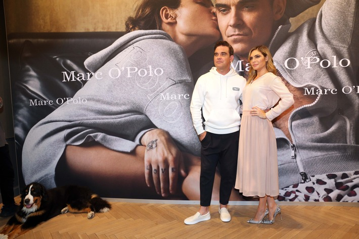 MARC O'POLO X Robbie & Ayda Williams: Launch der Special 50th Anniversary Sweatshirt Edition