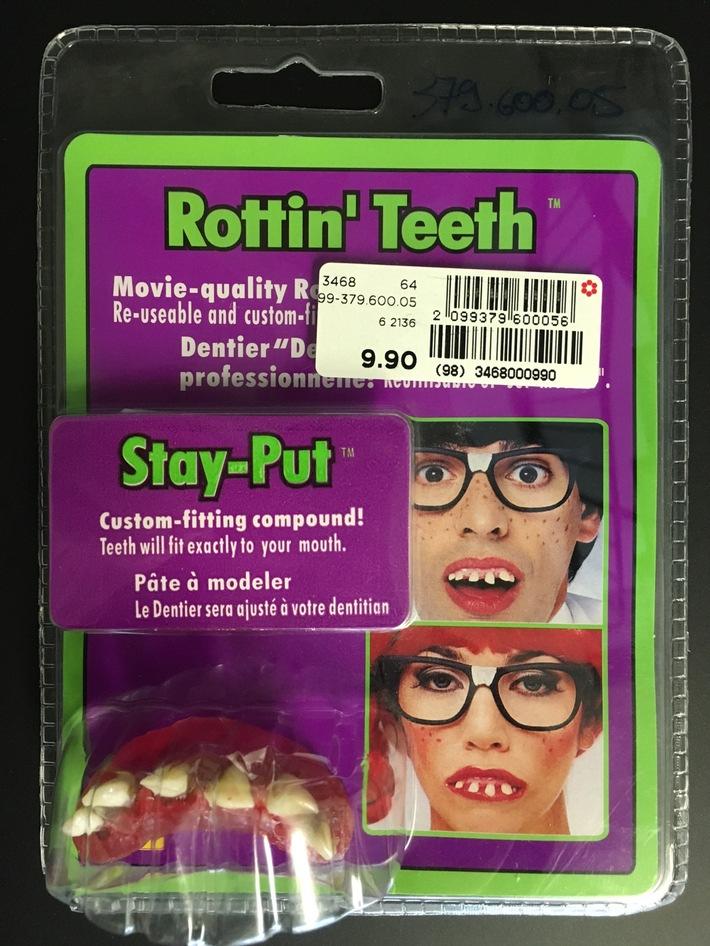 Manor ruft Fasnachtsartikel «Gebiss Korn Pone 'Rottin' Teeth'» zurück