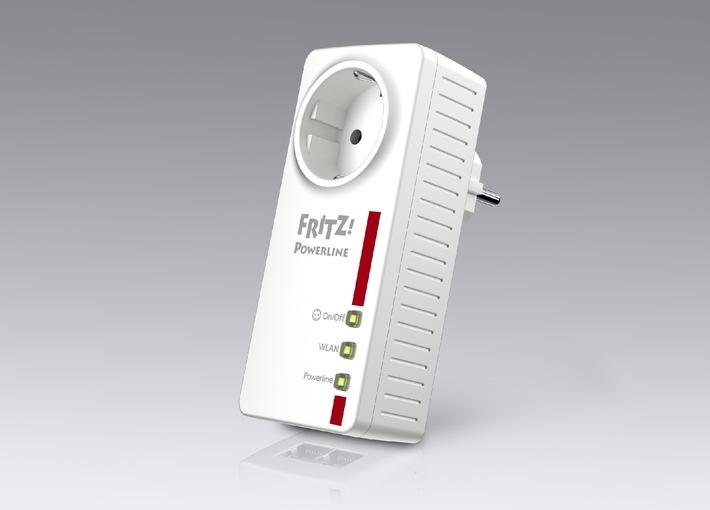 Marktstart FRITZ!Powerline 546E - kombiniert WLAN- und Powerline-Technologie mit intelligenter Steckdose