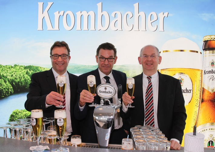Krombacher Gruppe mit historischem Allzeithoch bei Ausstoß (+3,5%) und Umsatz (+3,9%)