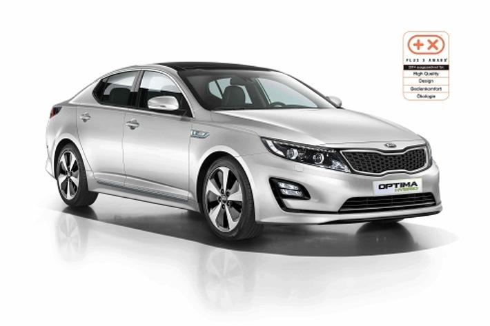 """Plus X Award"": Kia Optima Hybrid* vierfach ausgezeichnet"