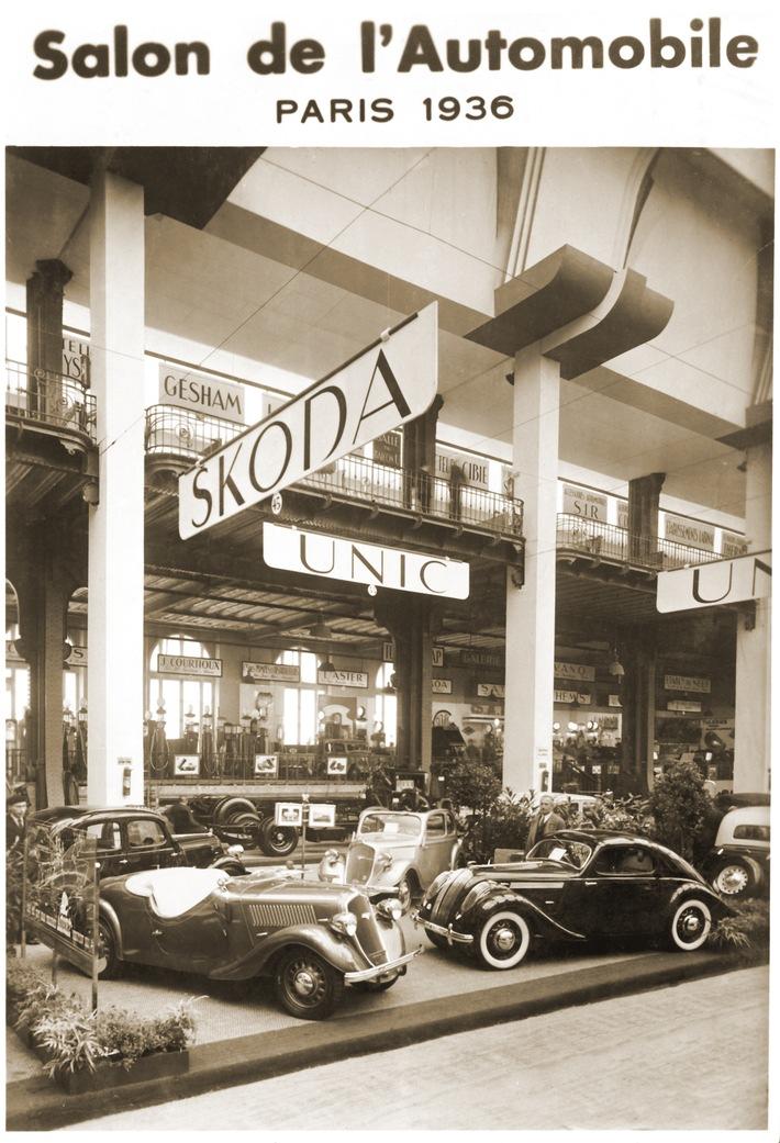 Internationale Messepremiere vor 80 Jahren: der SKODA POPULAR Sport Monte Carlo