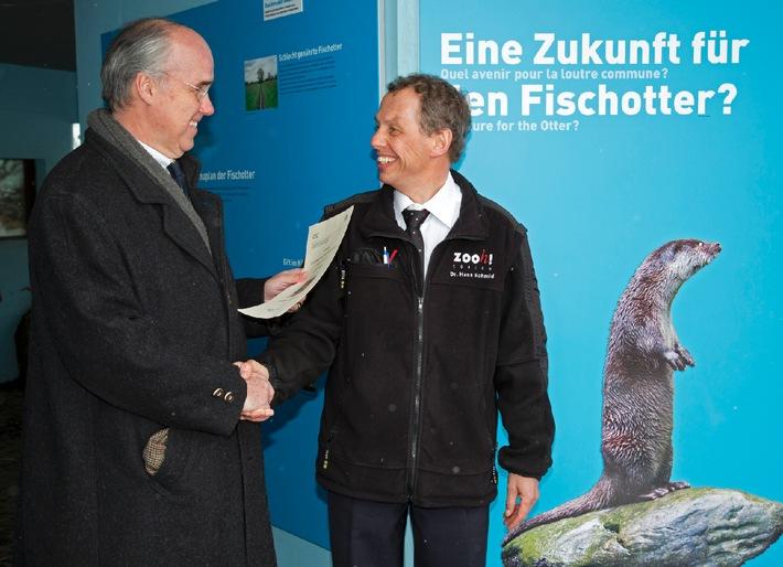 CIC Schweiz: Jäger spenden 12'500 Franken für den Fischotter (Bild)
