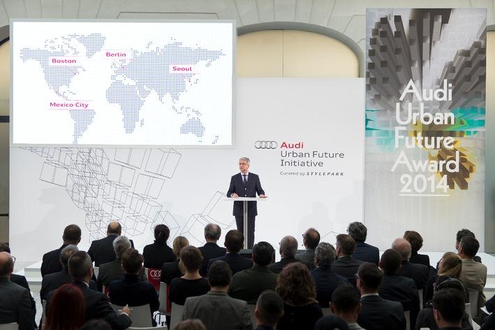 """AUDI AG: Mehr Raum und Lebensqualität in der Stadt: Audi stellt """"Urbane Agenda"""" vor"""