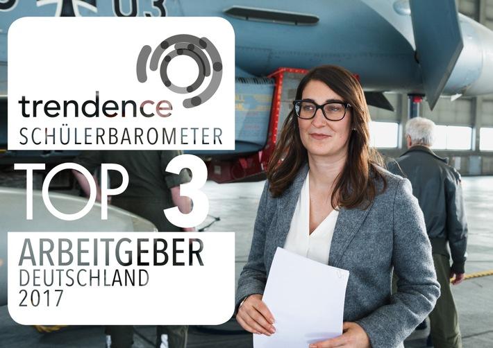 Bundeswehr auf Platz 3 der beliebtesten Arbeitgeber