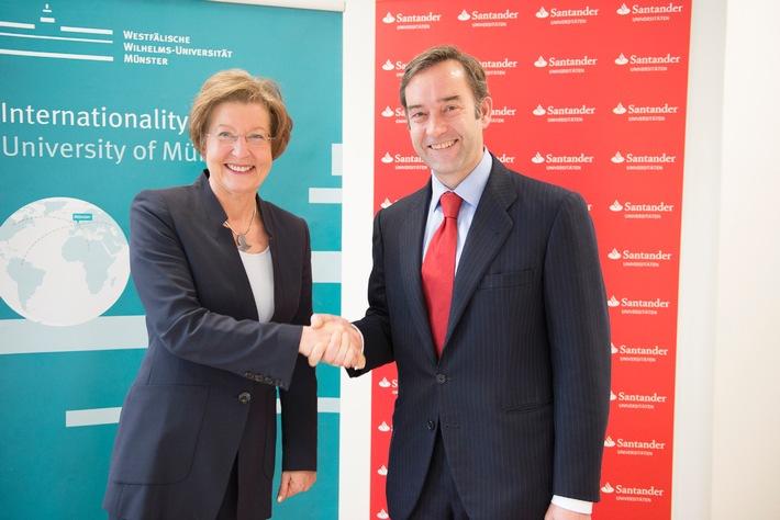 Santander unterstützt die Westfälische Wilhelms-Universität Münster