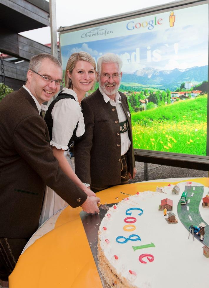 Vorgeschmack: Google stellt erste deutsche Street View Bilder online - Oberstaufen ist erste virtuell besuchbare Gemeinde (mit Bild)