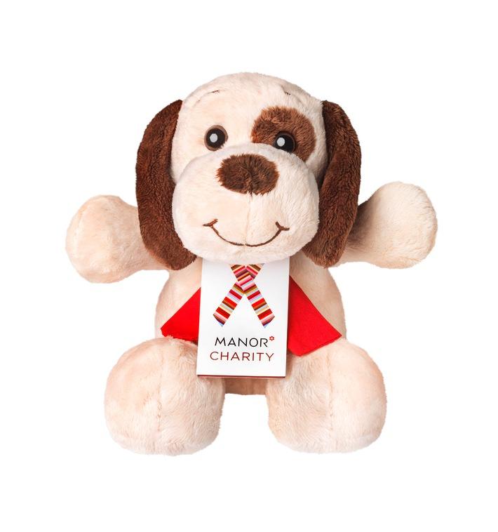 Manor Weihnachts-Charity 2012: Manor unterstützt Kinder und Jugendliche durch den Verkauf von Plüschhunden
