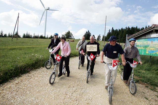 Bundesrat in Europas grösstem Zentrum für neue erneuerbare Energien