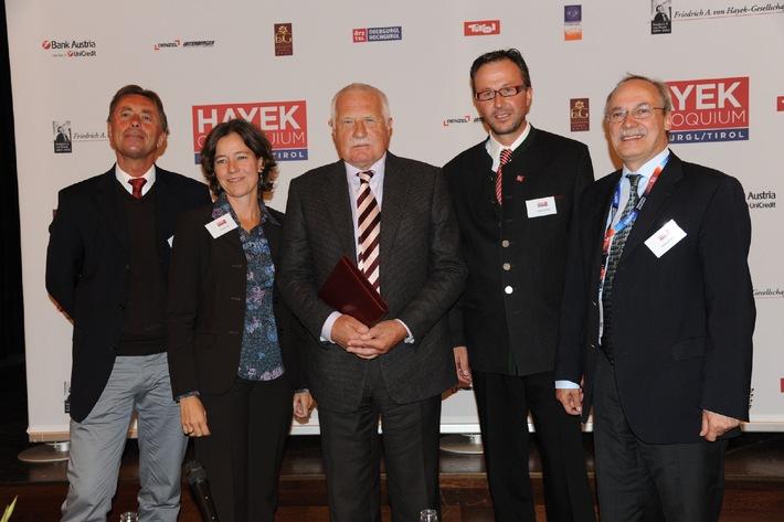 Václav Klaus und Norbert Bolz eröffnen HAYEK Colloquium Obergurgl 2012 mit intellektuellem Schlagabtausch